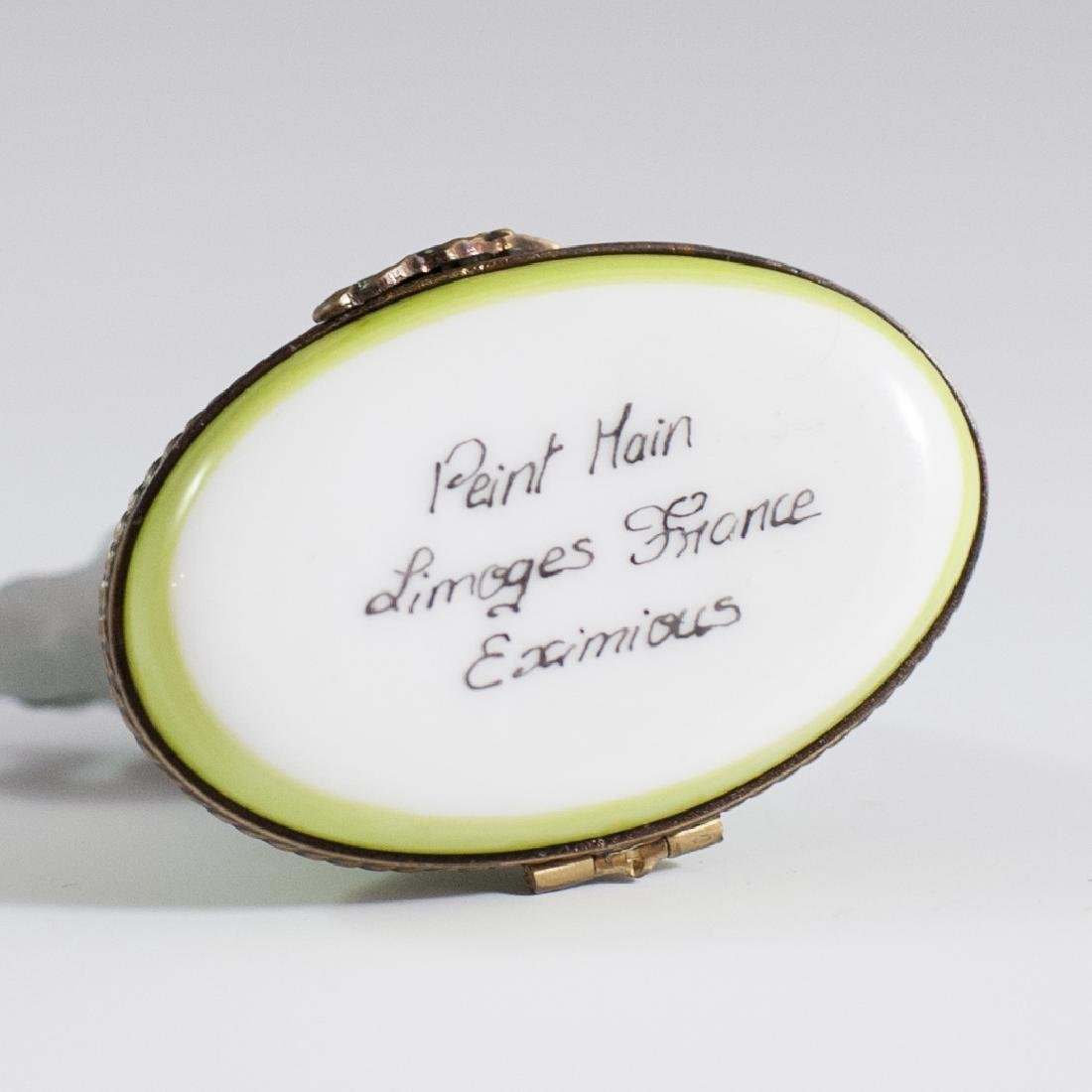 Eximious Limoges Porcelain Trinket Box - 3