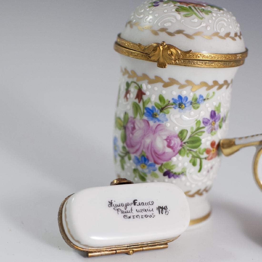 Limoges Porcelain Trinket Boxes - 3