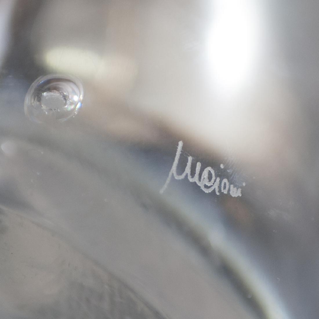 Mario Cioni Italian Crystal silver plated Vase - 5