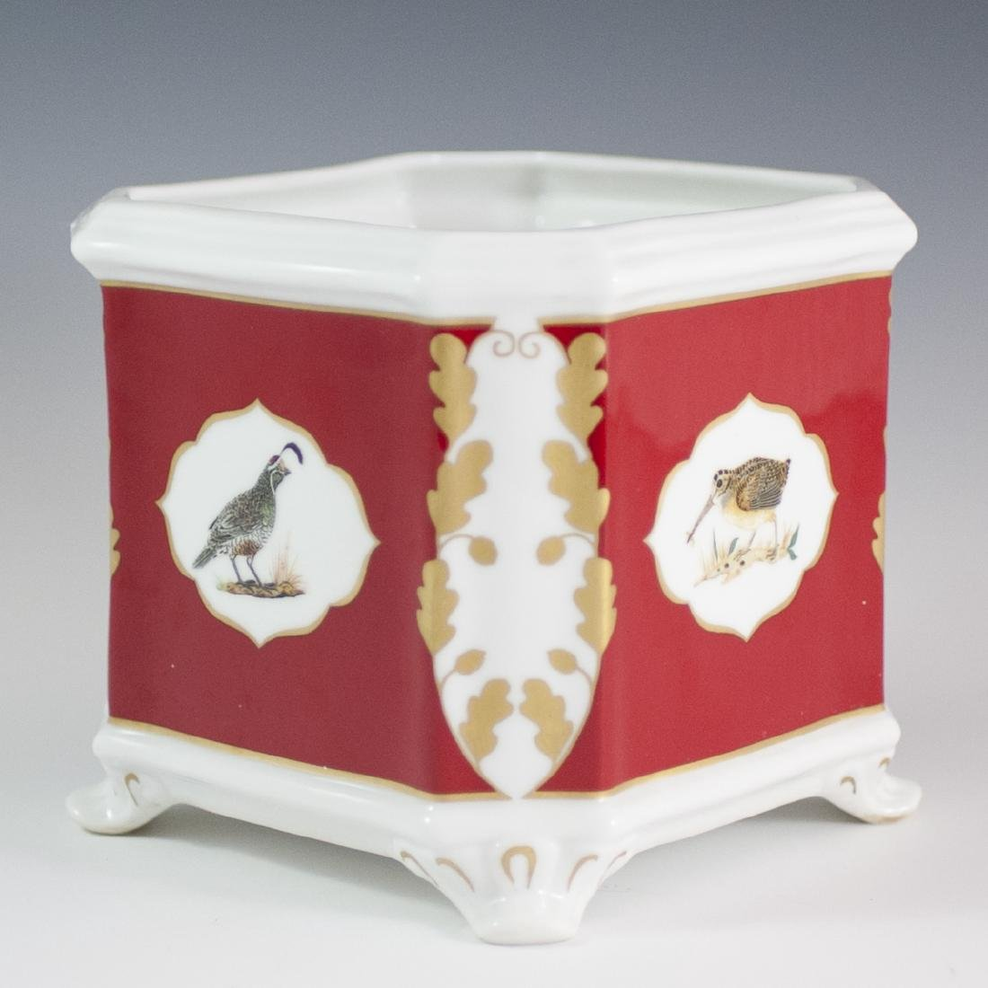 "Lynn Chase ""Winter Game Birds"" Porcelain Cachepot"