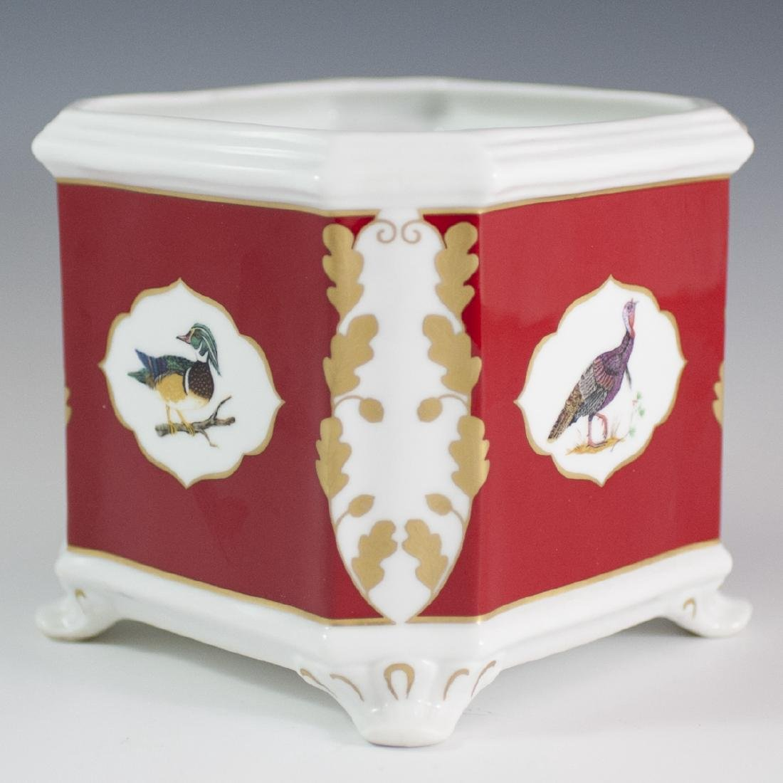 "Lynn Chase ""Winter Game Birds"" Porcelain Cachepot - 2"