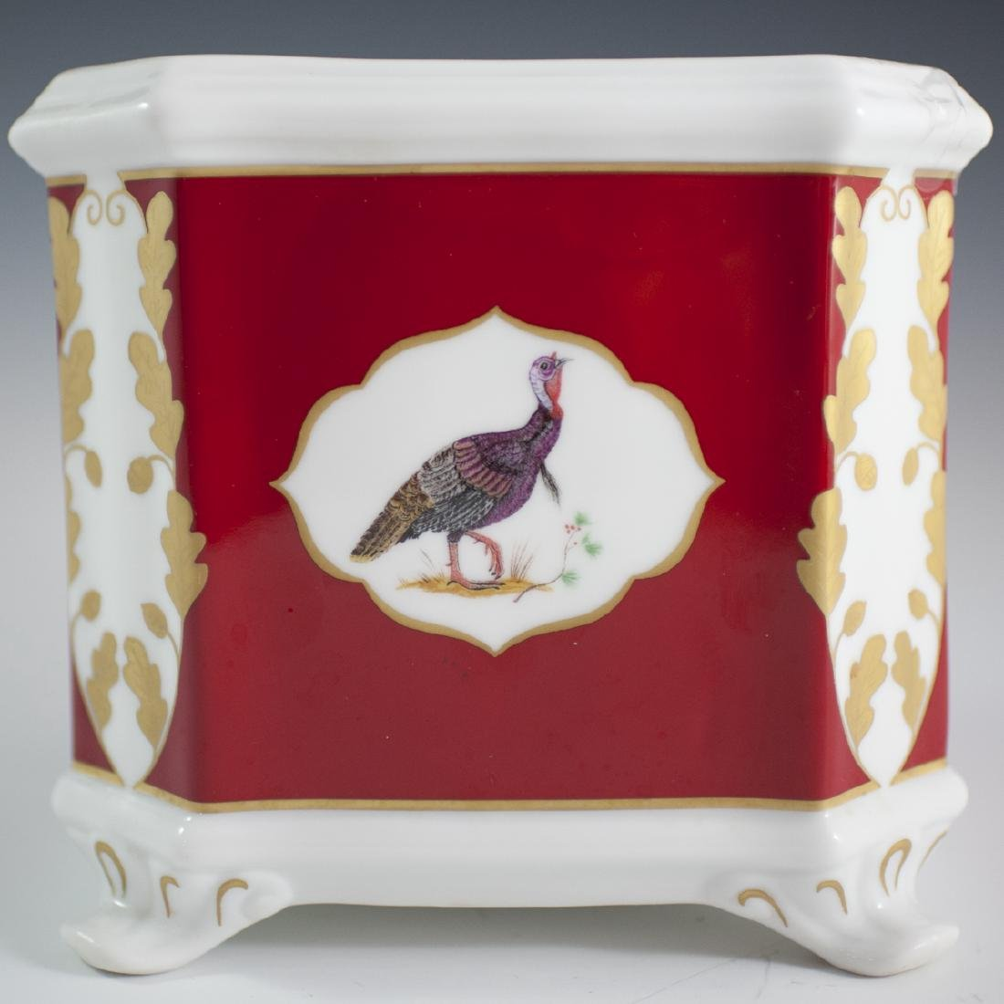 "Lynn Chase ""Winter Game Birds"" Porcelain Cachepot - 4"