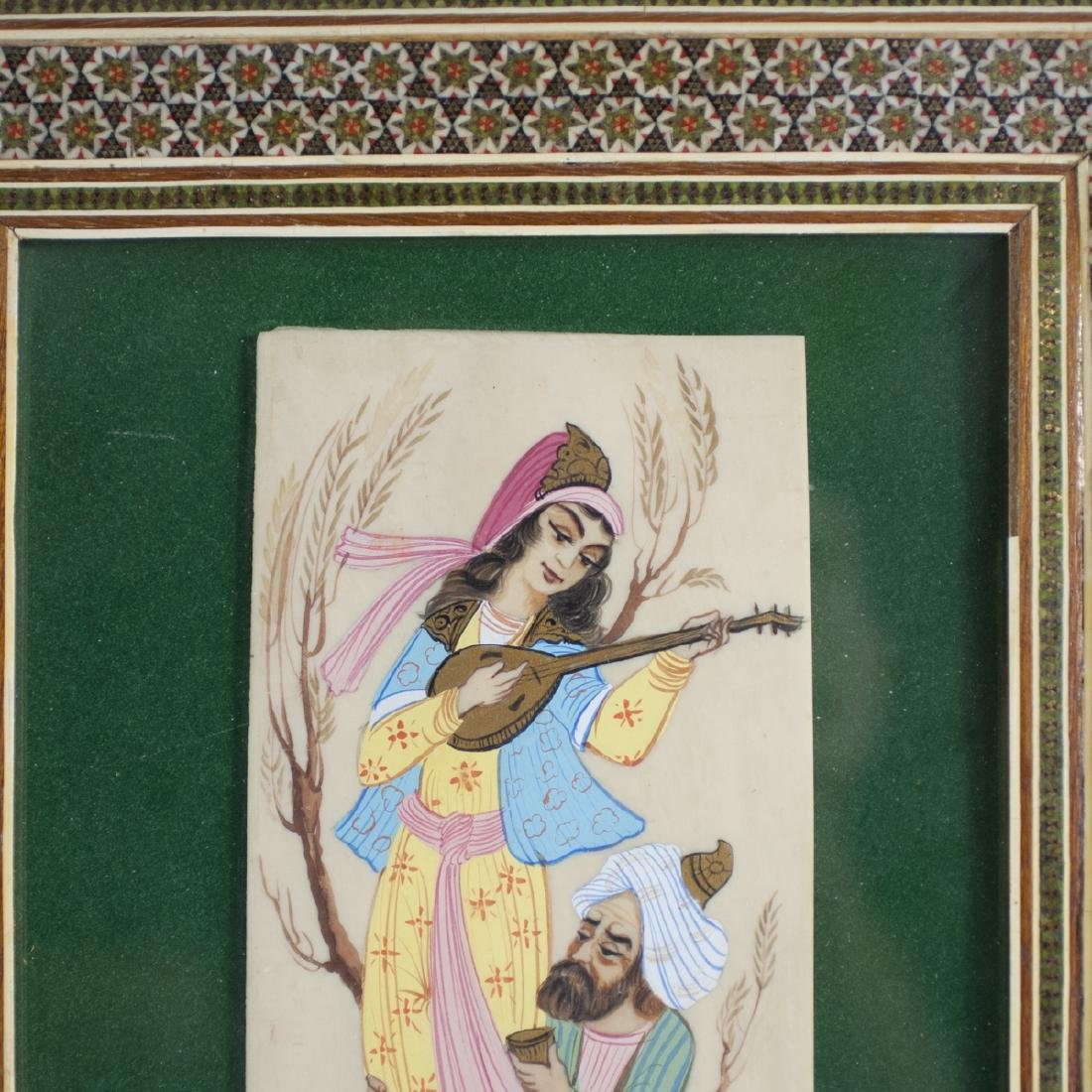 Signed Persian Painting on Bone - 2