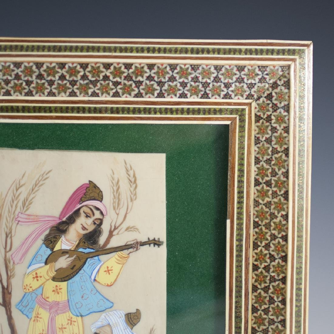 Signed Persian Painting on Bone - 3
