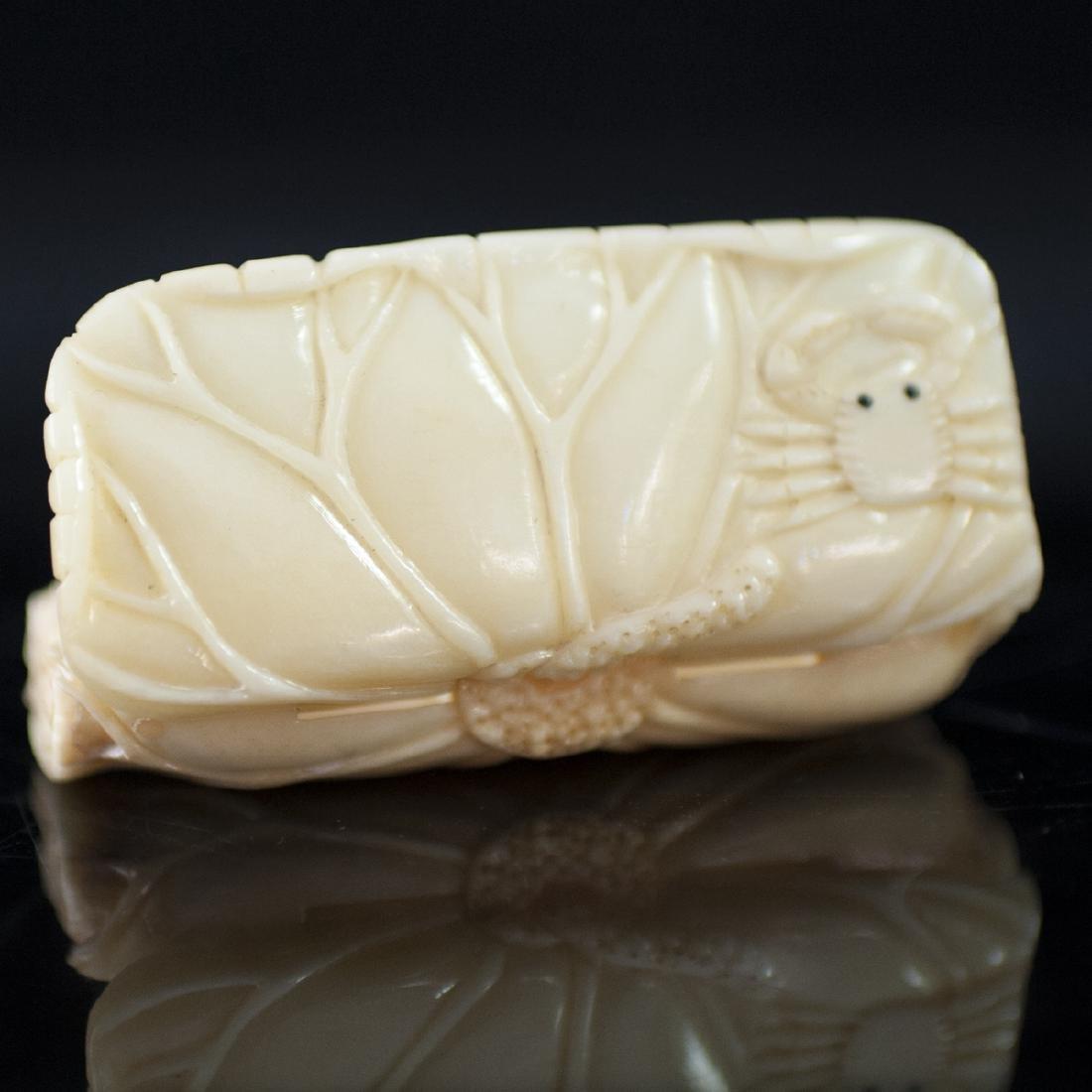 Japanese Carved Bone Box