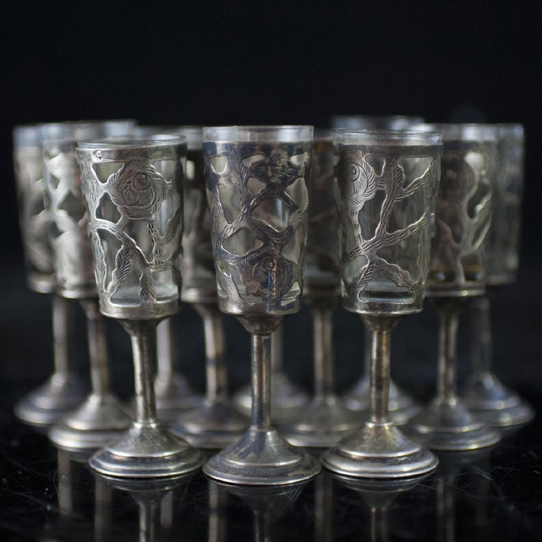 Mexican Sterling Overlay Cordials