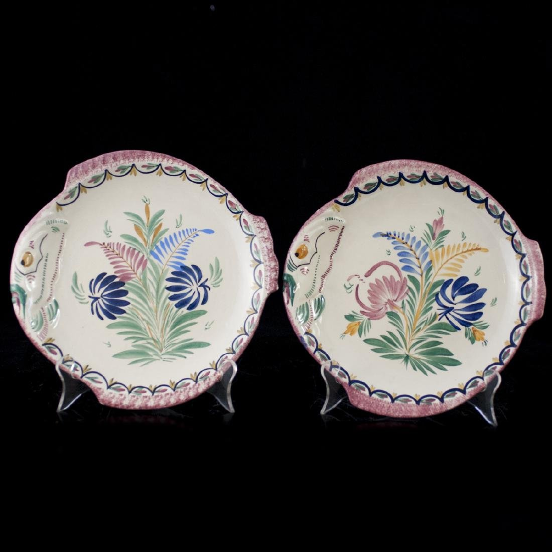 Quimper Faience Pottery Fish Plates