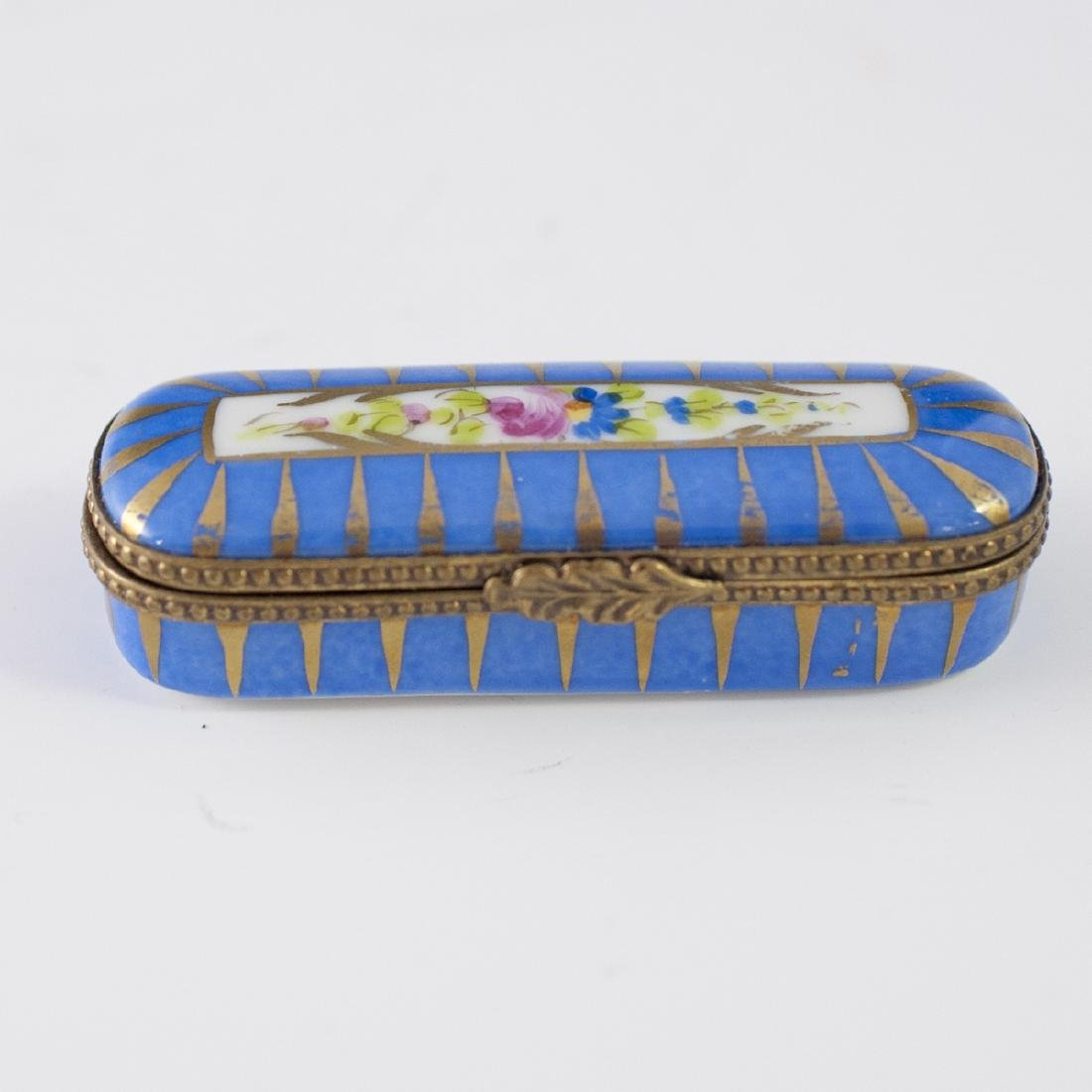 French Accents Limoges Porcelain Needle Box
