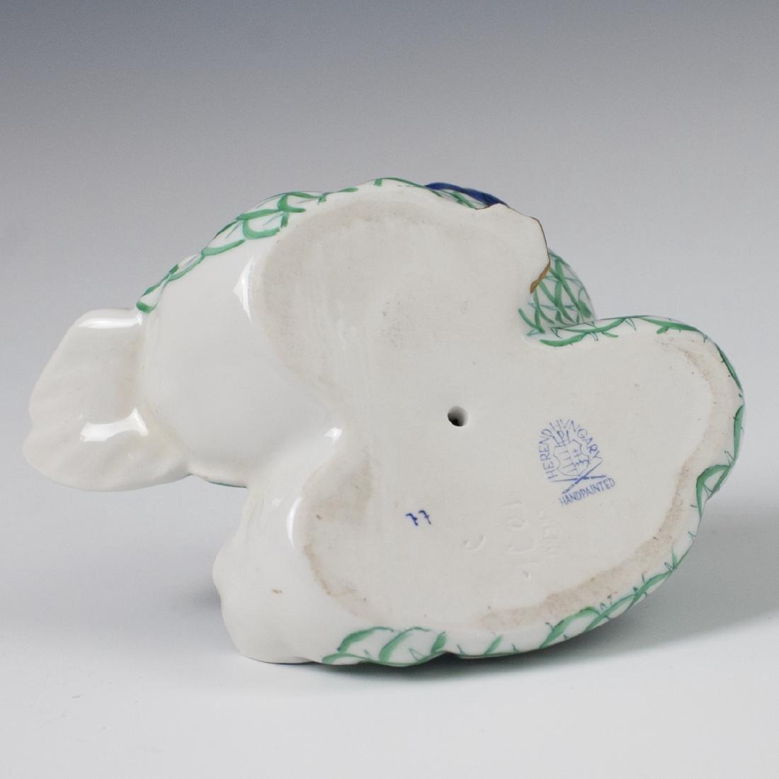 Herend Porcelain Green Fishnet Double Ducks - 3
