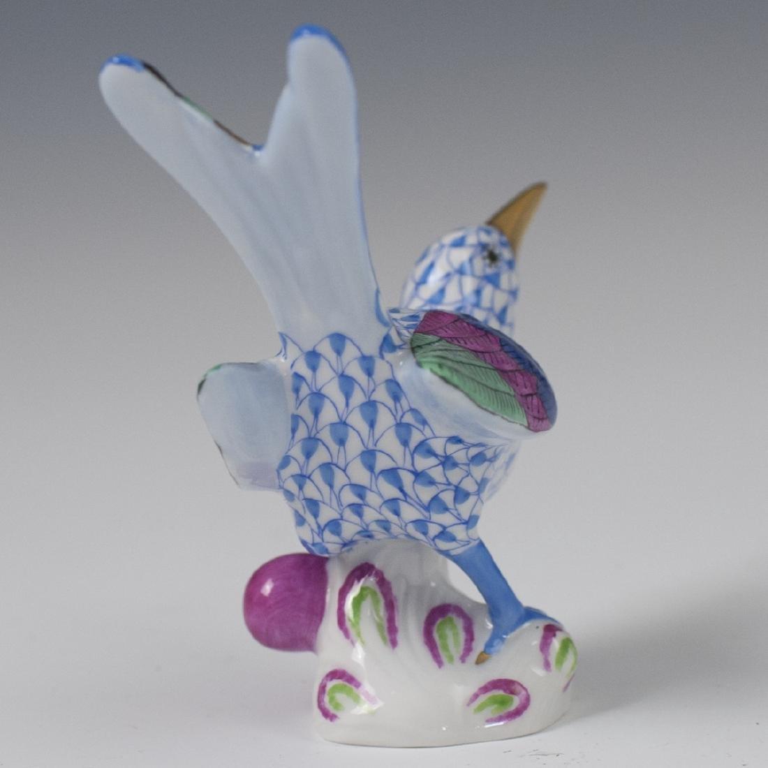 Herend Porcelain Blue Fishnet Hummingbird - 3