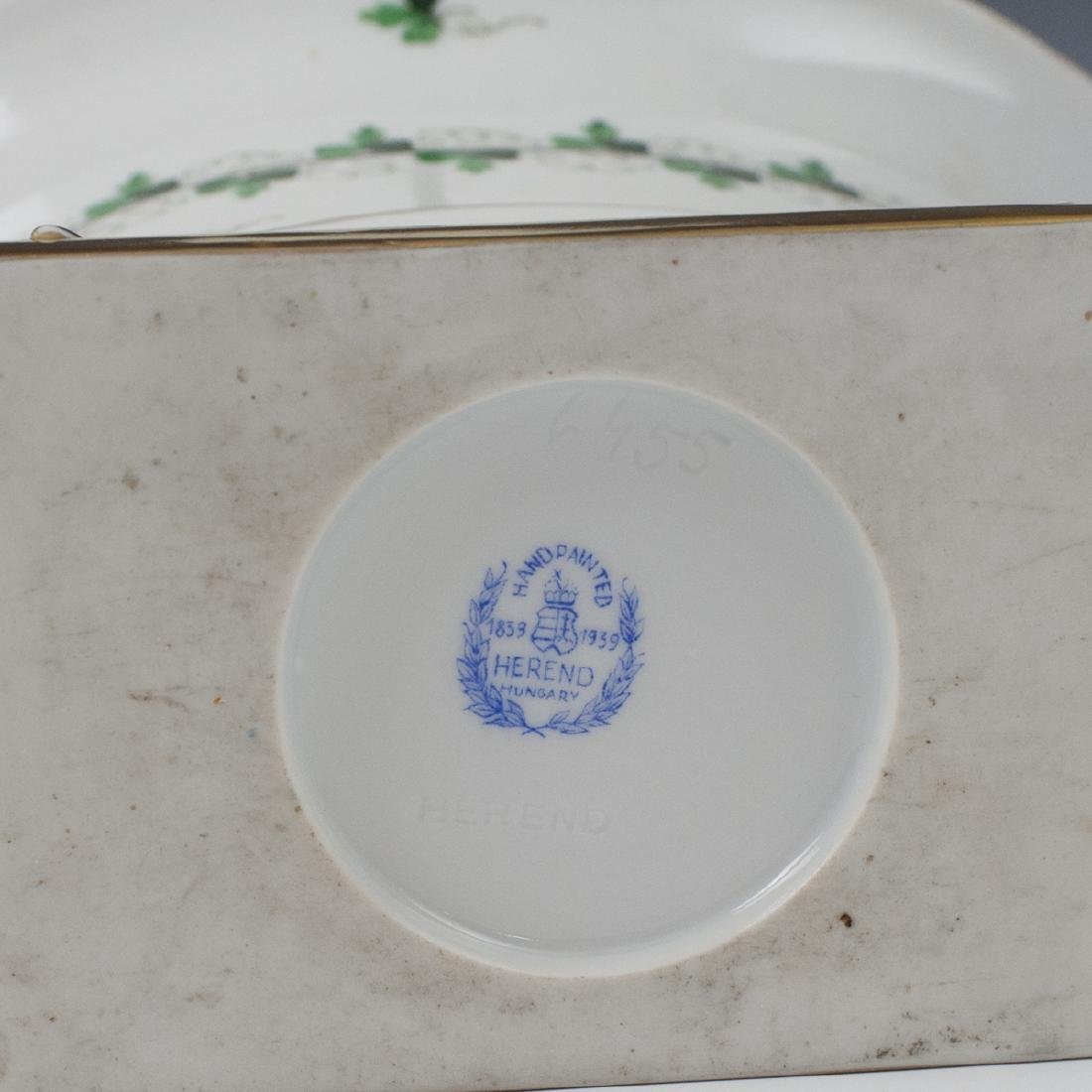 """Herend Centennial """"Persil"""" Porcelain Footed Planter - 3"""