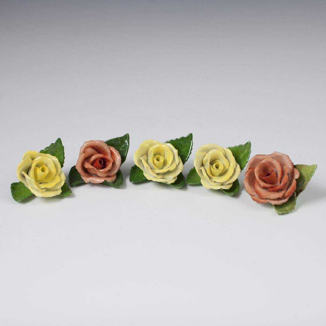 Herend Porcelain Rose Place Card Holders