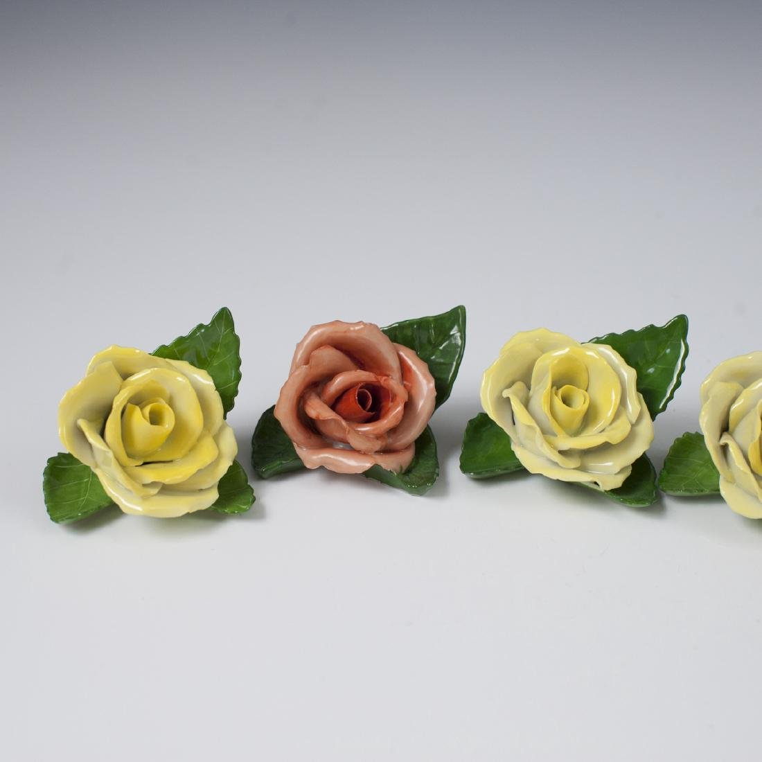 Herend Porcelain Rose Place Card Holders - 2