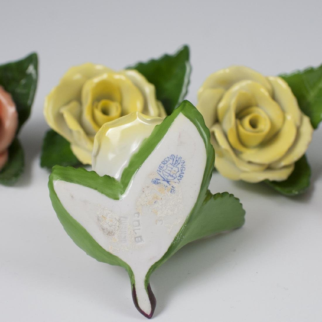 Herend Porcelain Rose Place Card Holders - 3