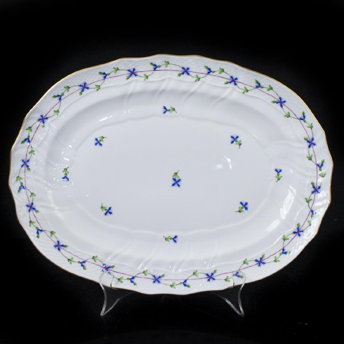 "Herend Porcelain ""Blue Garland"" Serving Tray"