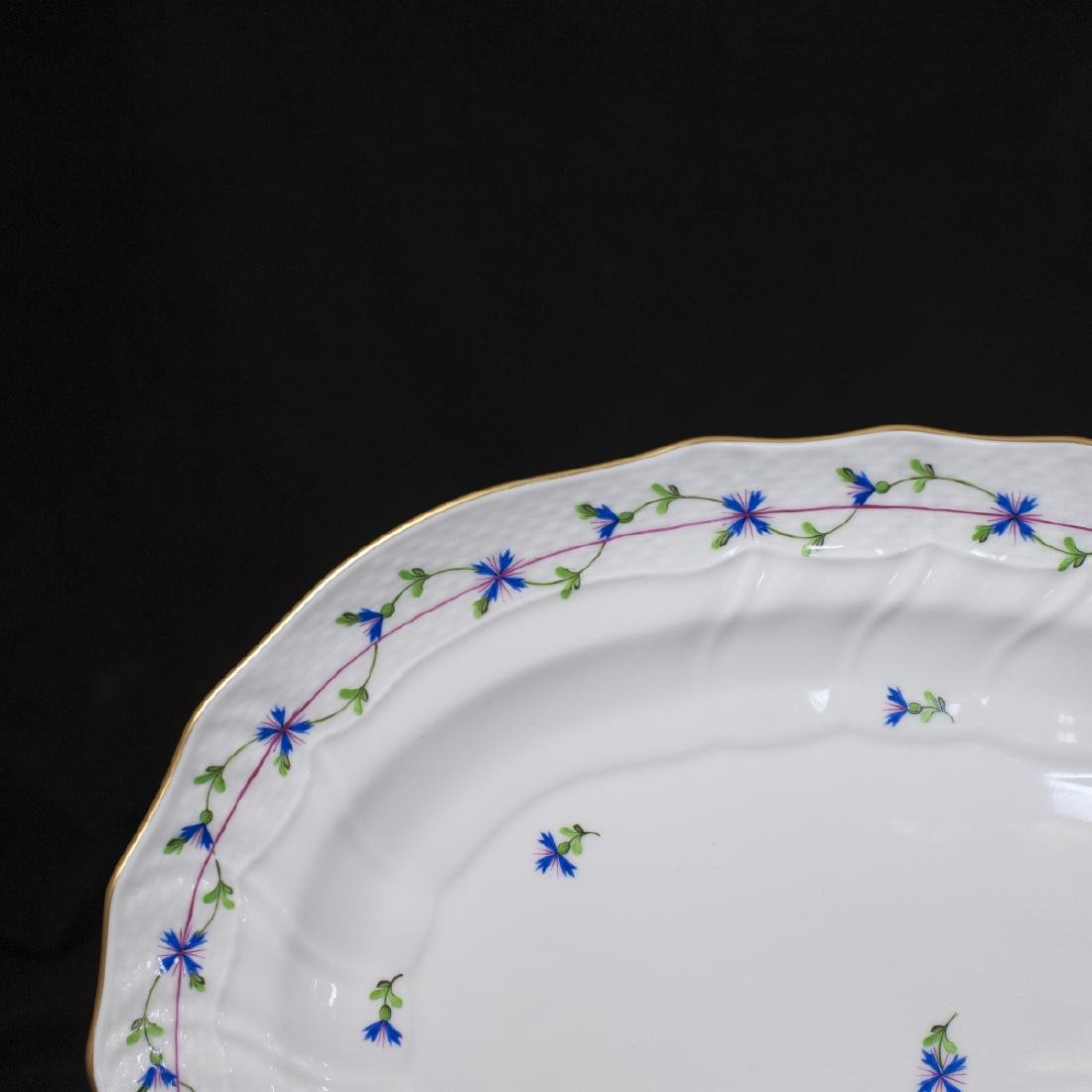 "Herend Porcelain ""Blue Garland"" Serving Tray - 2"