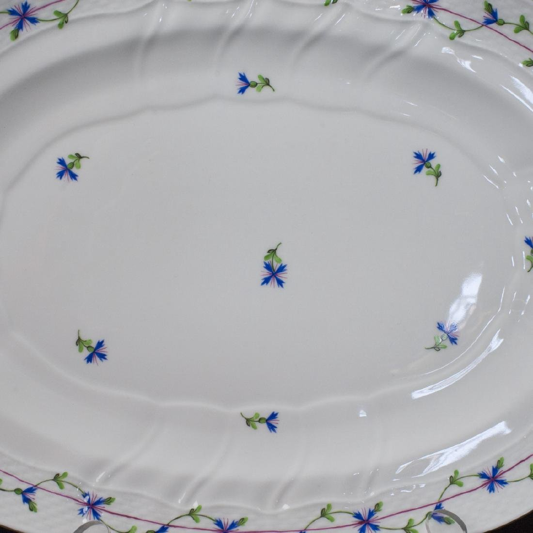 "Herend Porcelain ""Blue Garland"" Serving Tray - 4"