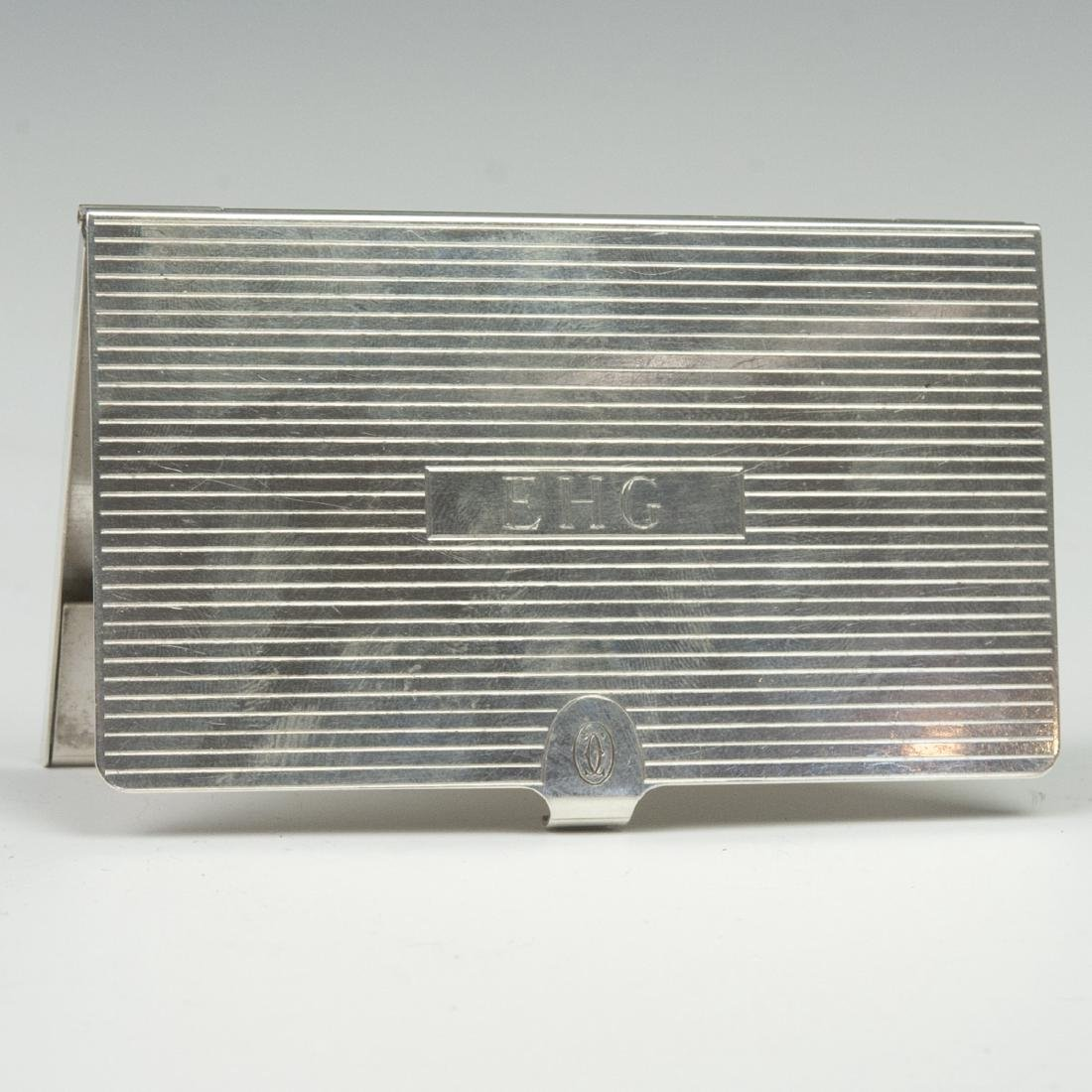 Cartier Sterling Business Card Case