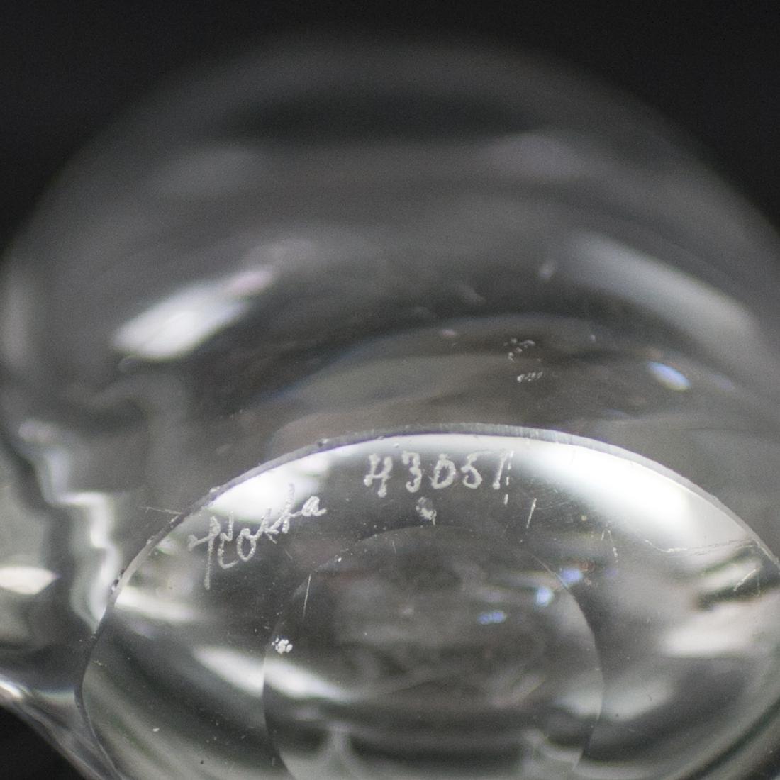 Kosta Boda Etched Crystal Vase - 3