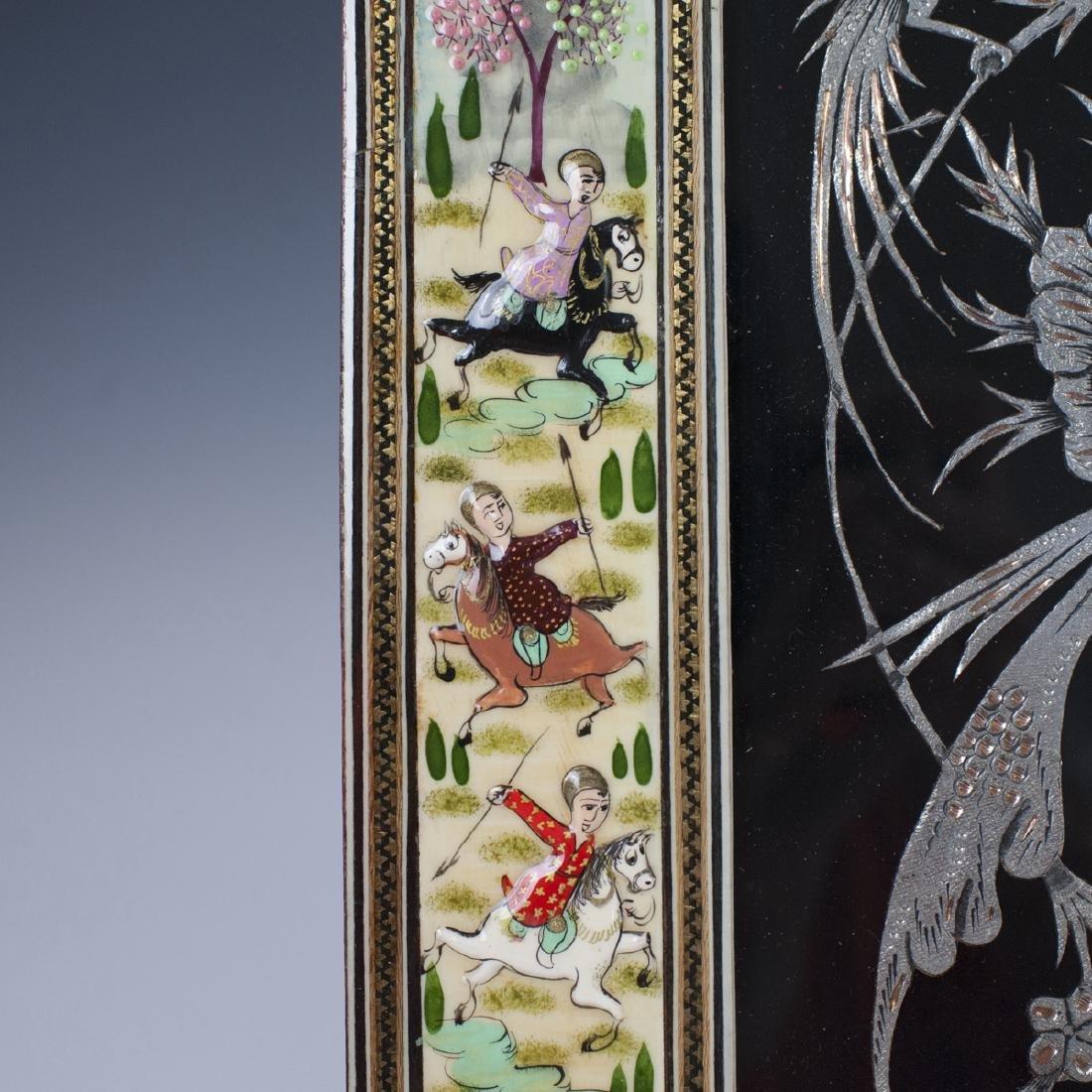 Persian Lacquered Khatam Frame Art - 3