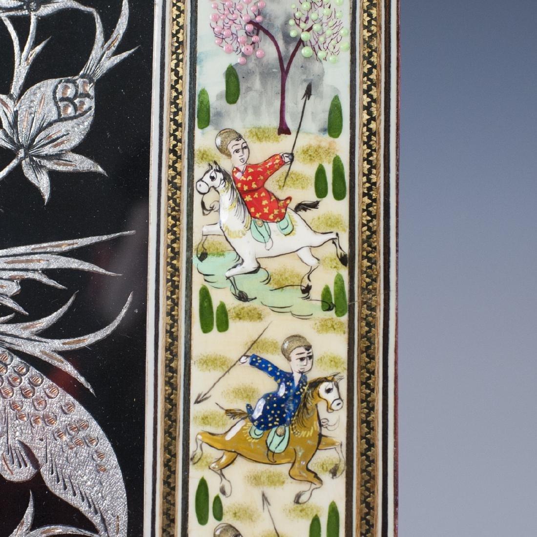 Persian Lacquered Khatam Frame Art - 4