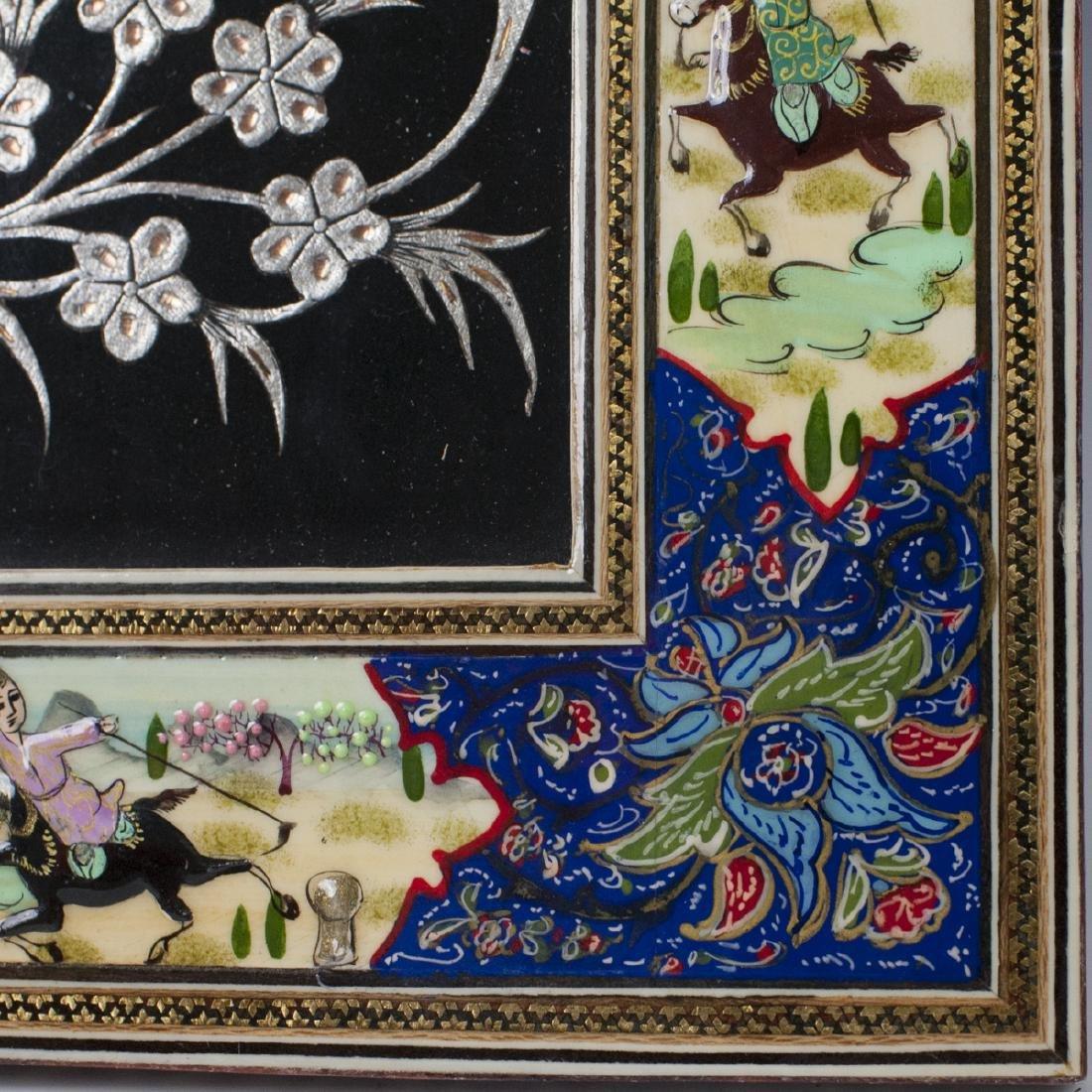 Persian Lacquered Khatam Frame Art - 5