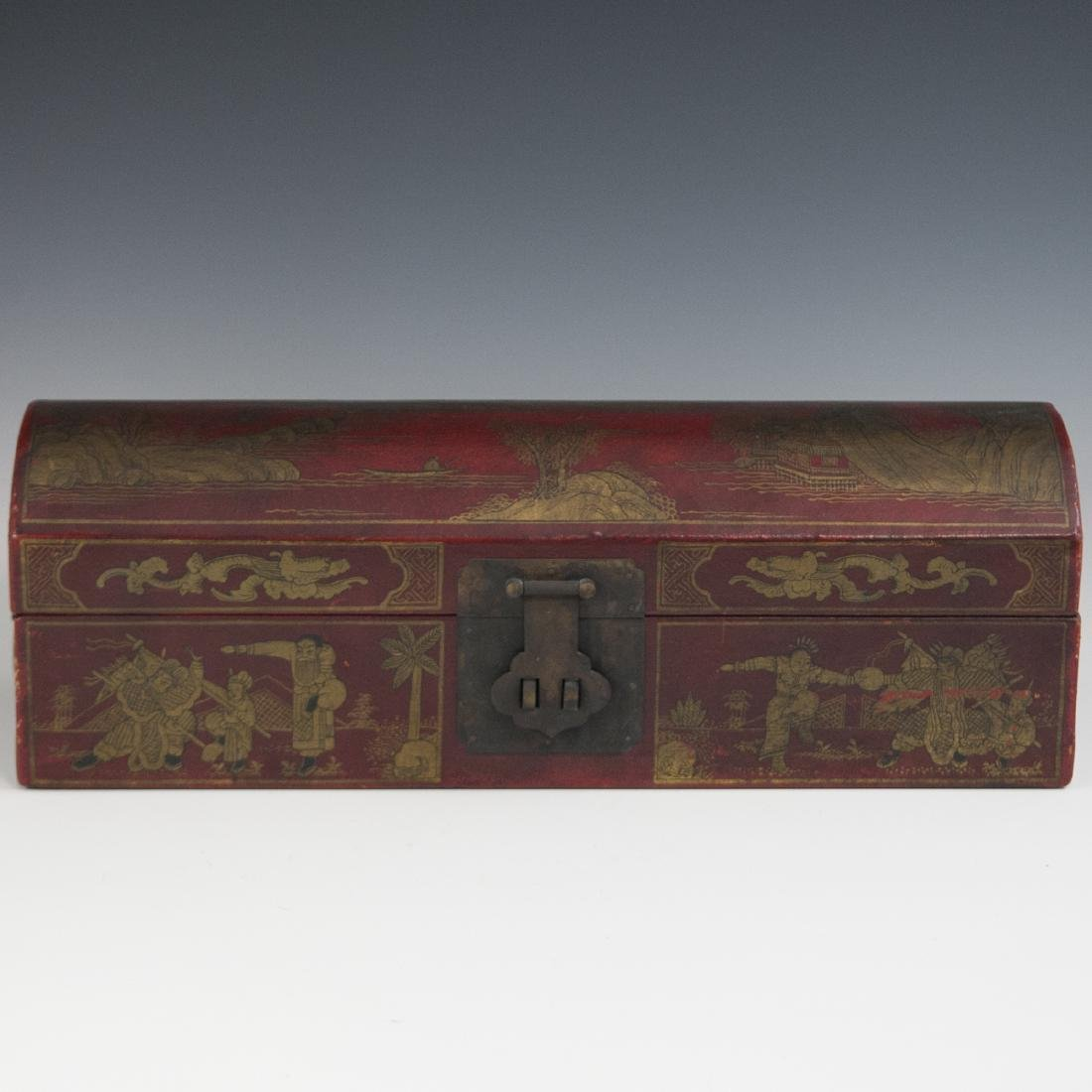 Chinese Lacquered Papier Mache Box