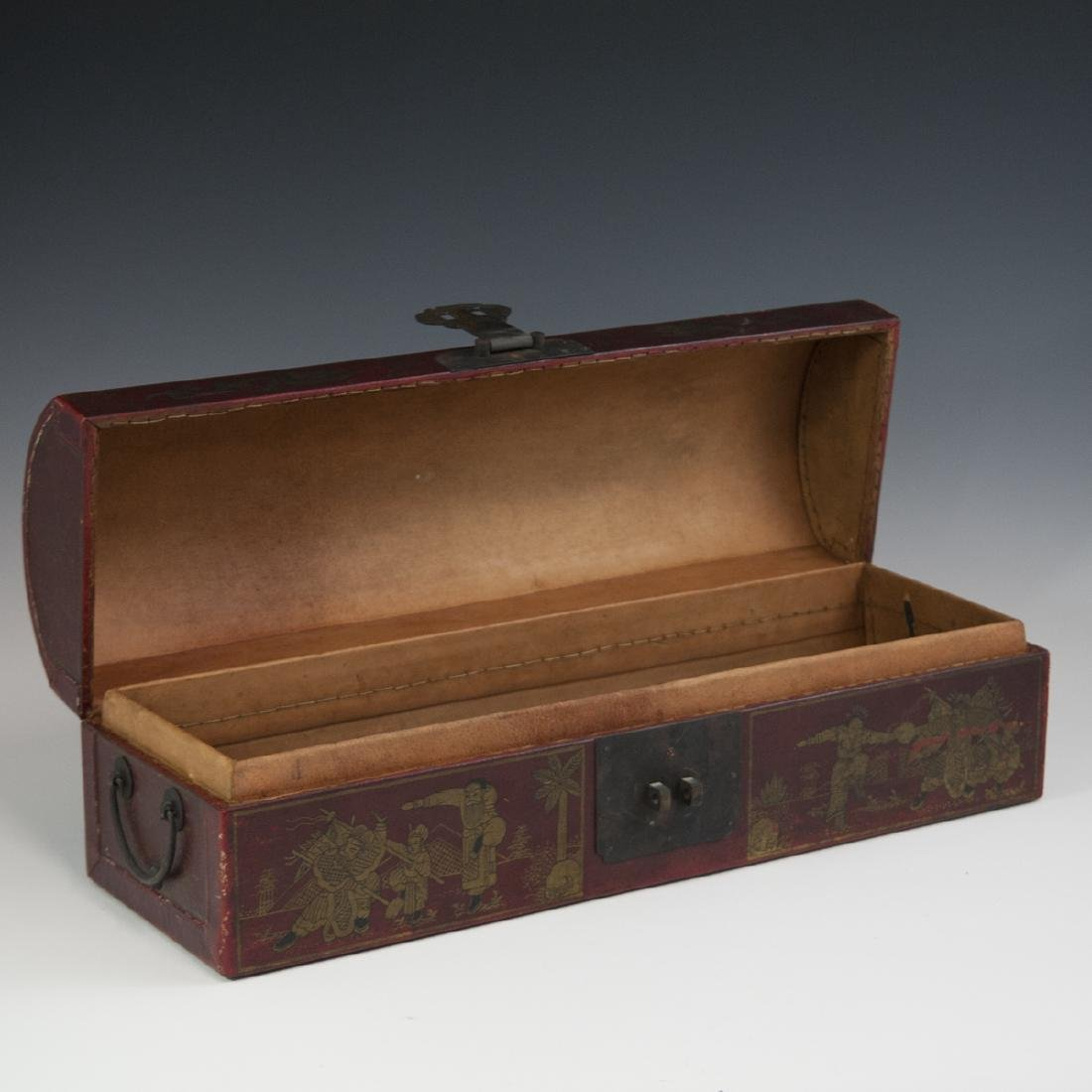 Chinese Lacquered Papier Mache Box - 3
