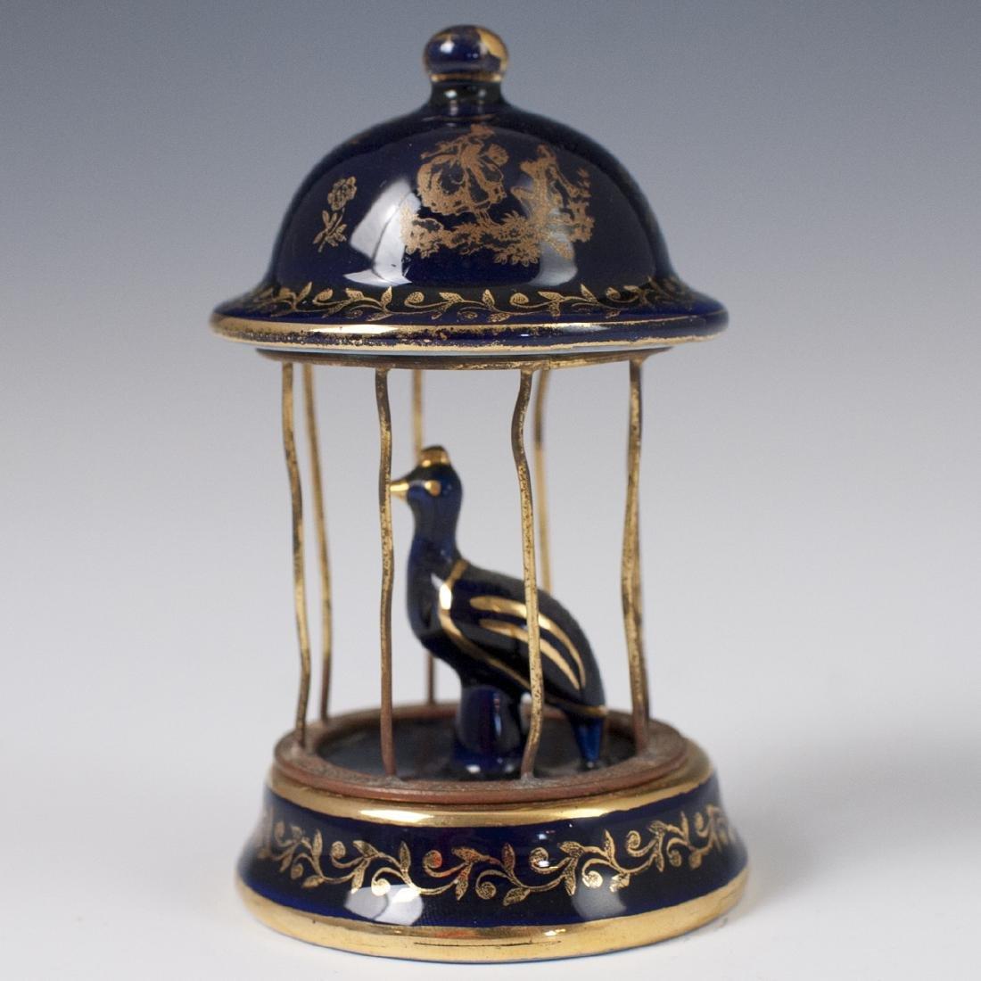 Limoges Porcelain Bird Cage - 2