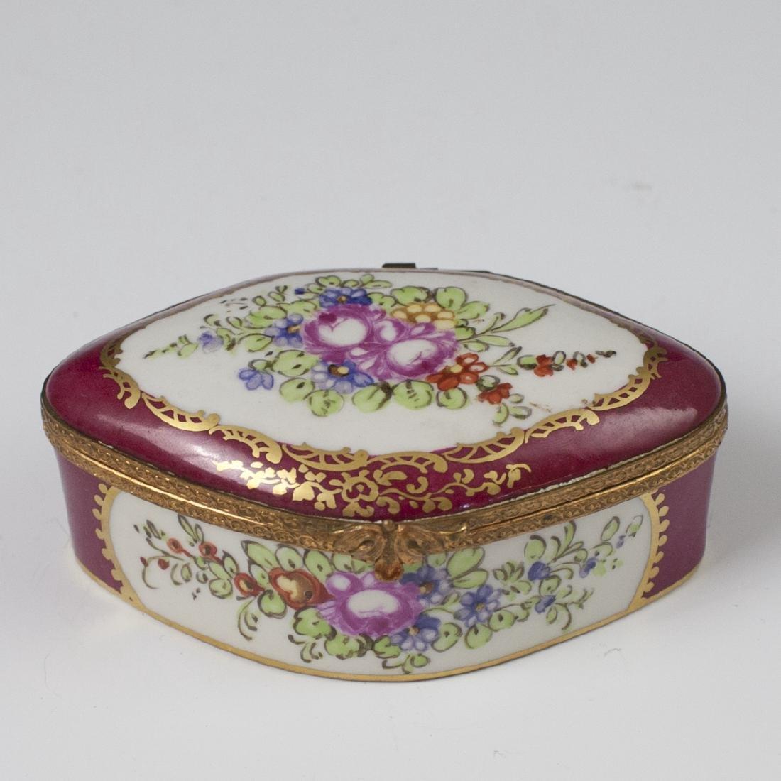 Limoges Sevres Style Porcelain Trinket Box