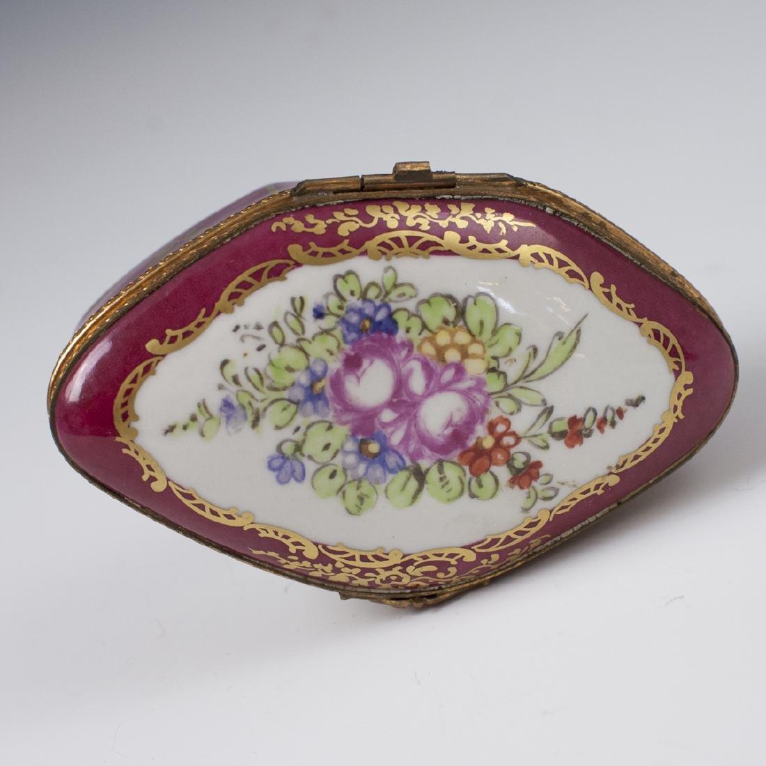 Limoges Sevres Style Porcelain Trinket Box - 2