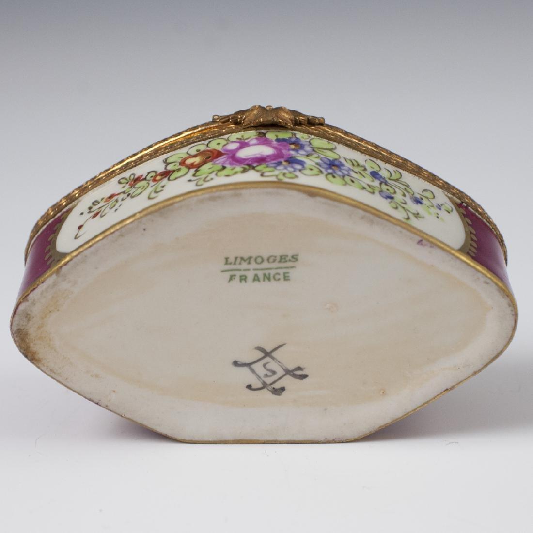 Limoges Sevres Style Porcelain Trinket Box - 3