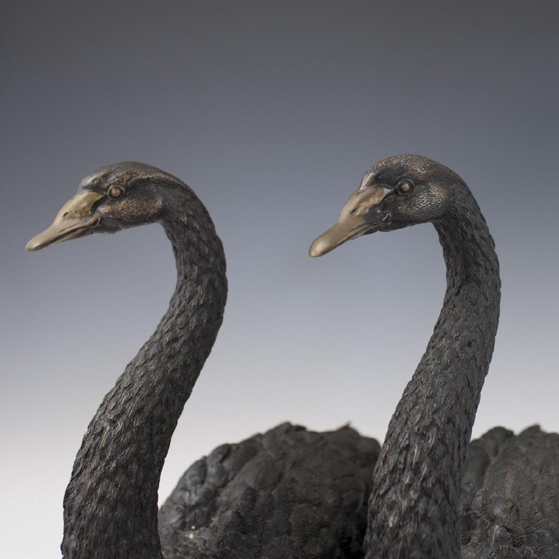 Antique Bronze Swan Sculptures - 2