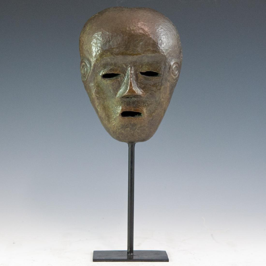 Decorative Bronze Mask Sculpture