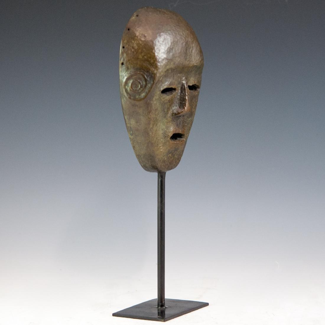 Decorative Bronze Mask Sculpture - 3
