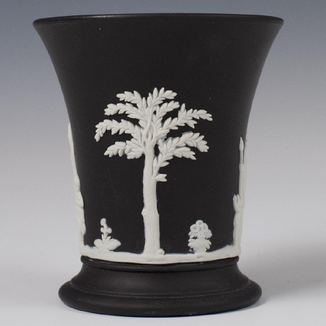 Wedgwood Black Jasperware Pencil Cup
