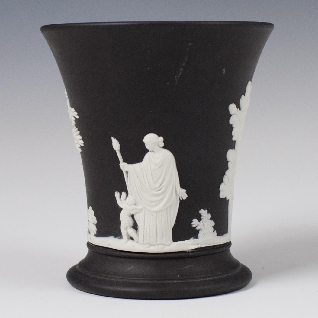 Wedgwood Black Jasperware Pencil Cup - 2