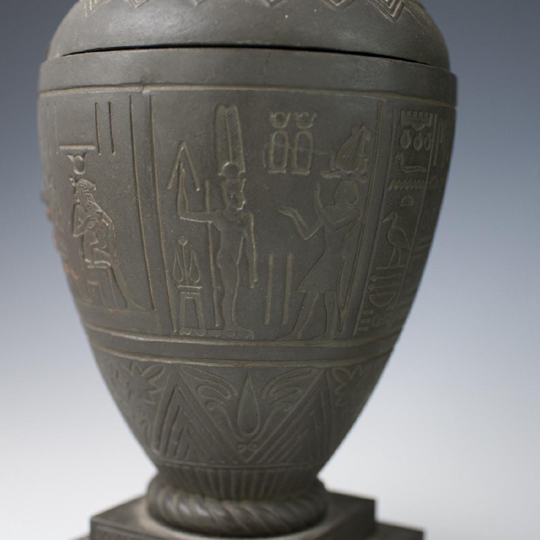 Polychromed White Metal Egyptian Motif Garnitures - 5