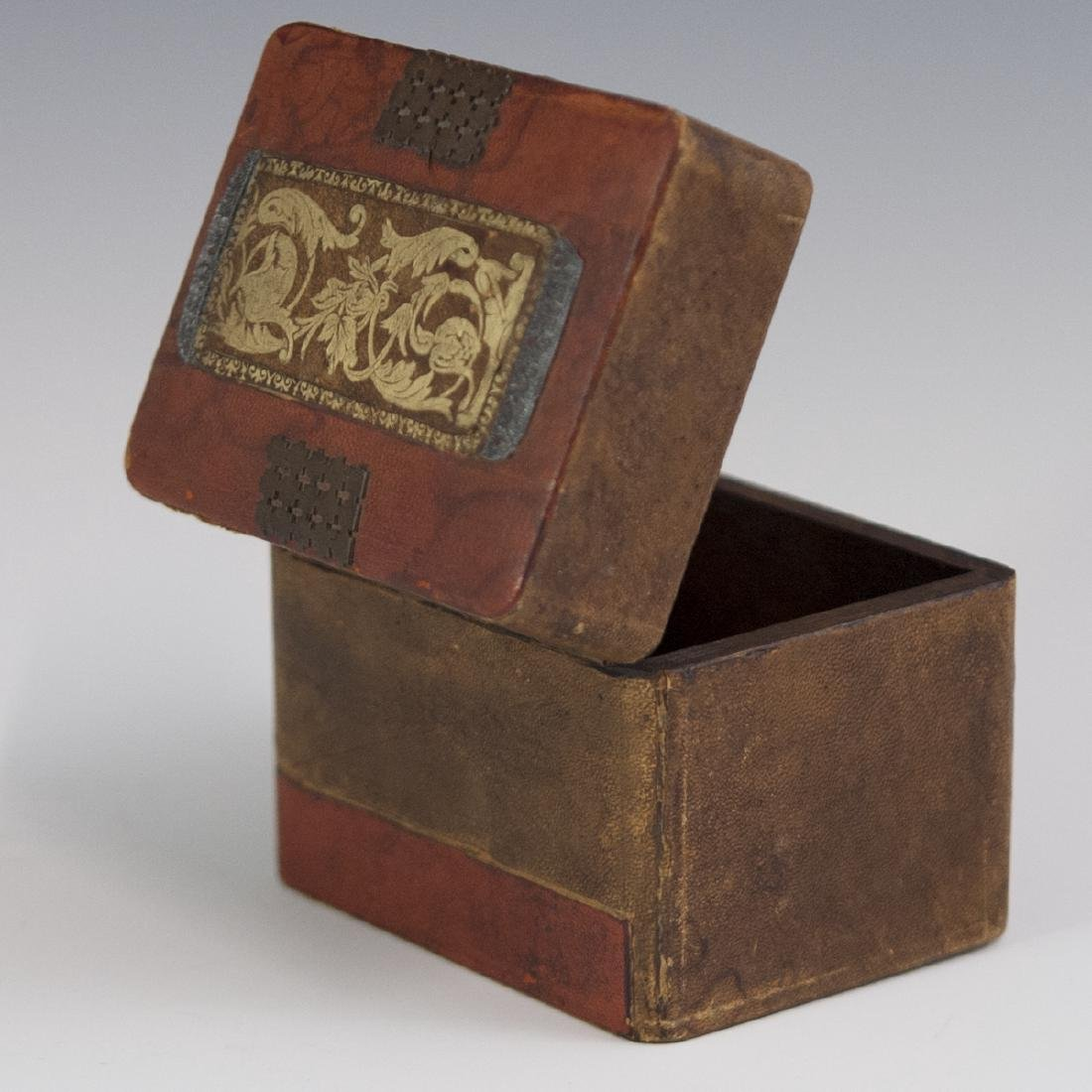 Wooden Leather Lined Box