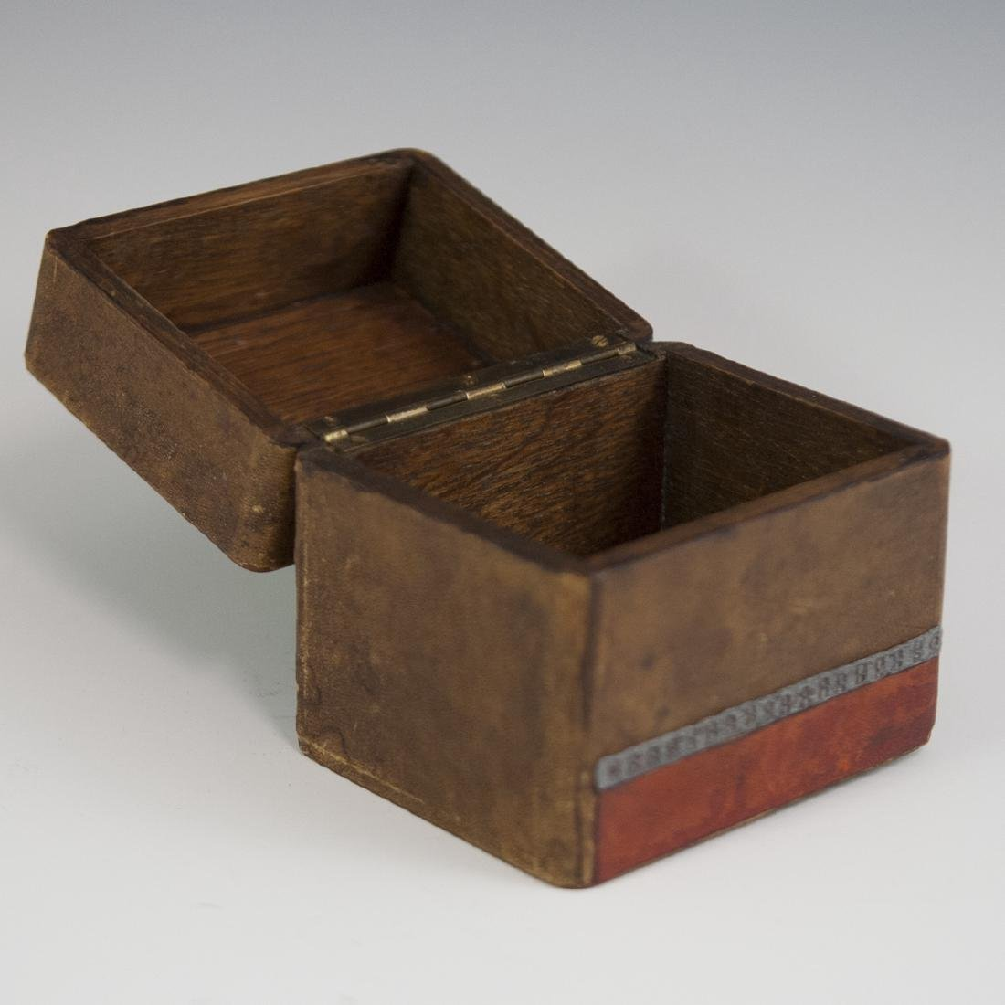 Wooden Leather Lined Box - 3
