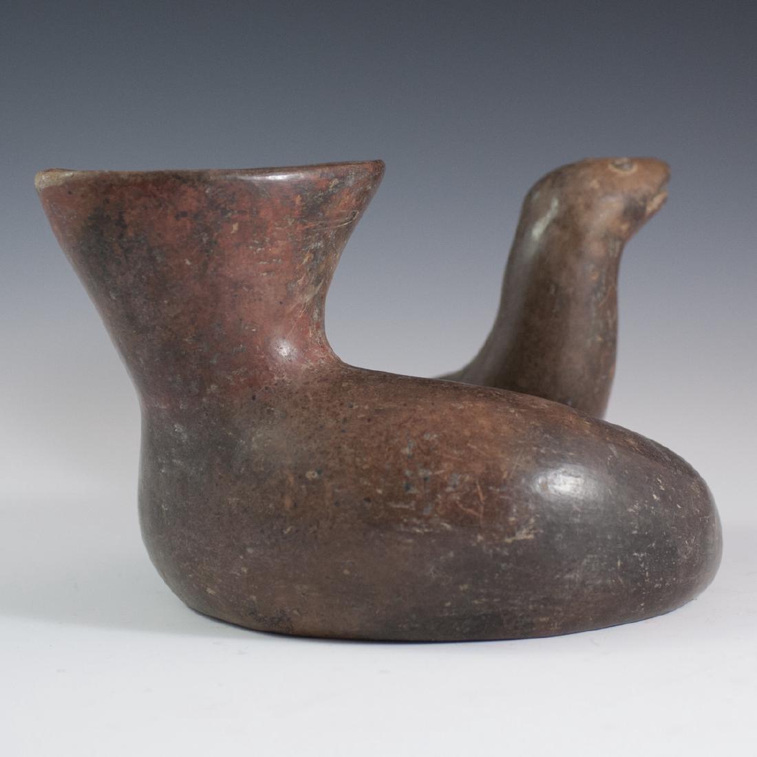 Pre-Columbian Serpent Pottery Stirrup Vessel - 4