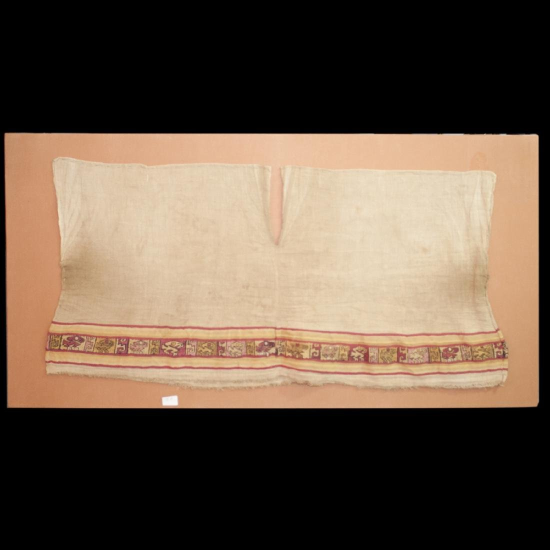 Pre-Columbian Chancay Embroidered Tunic