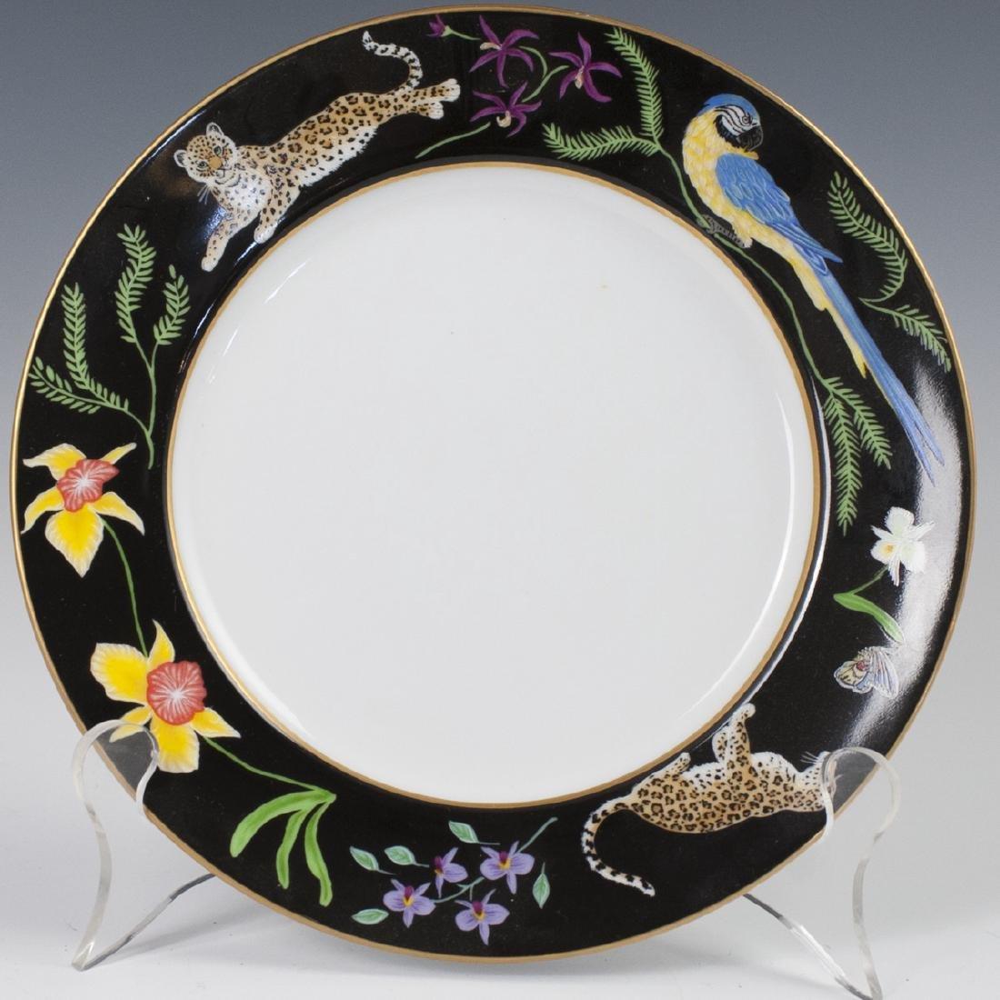 """Chase """"Jaguar Jungle"""" Porcelain Salad Plate"""