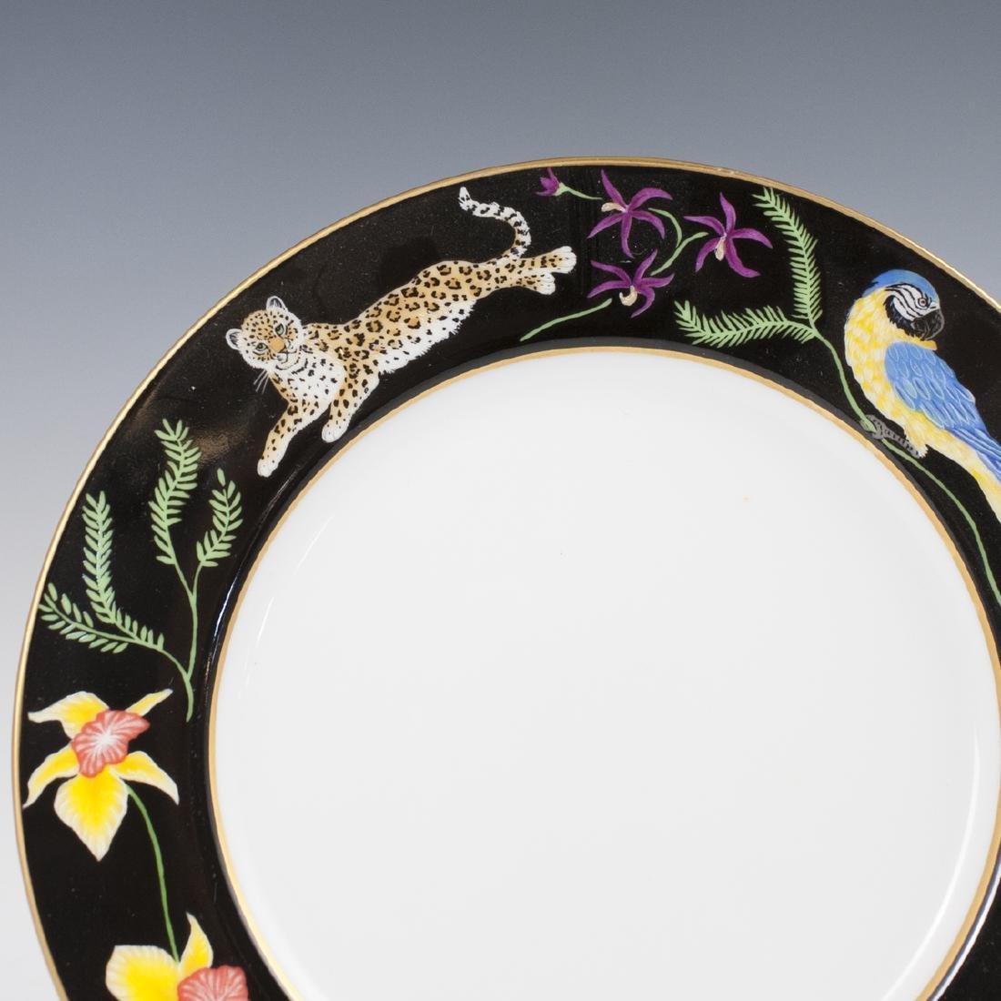 """Chase """"Jaguar Jungle"""" Porcelain Salad Plate - 2"""