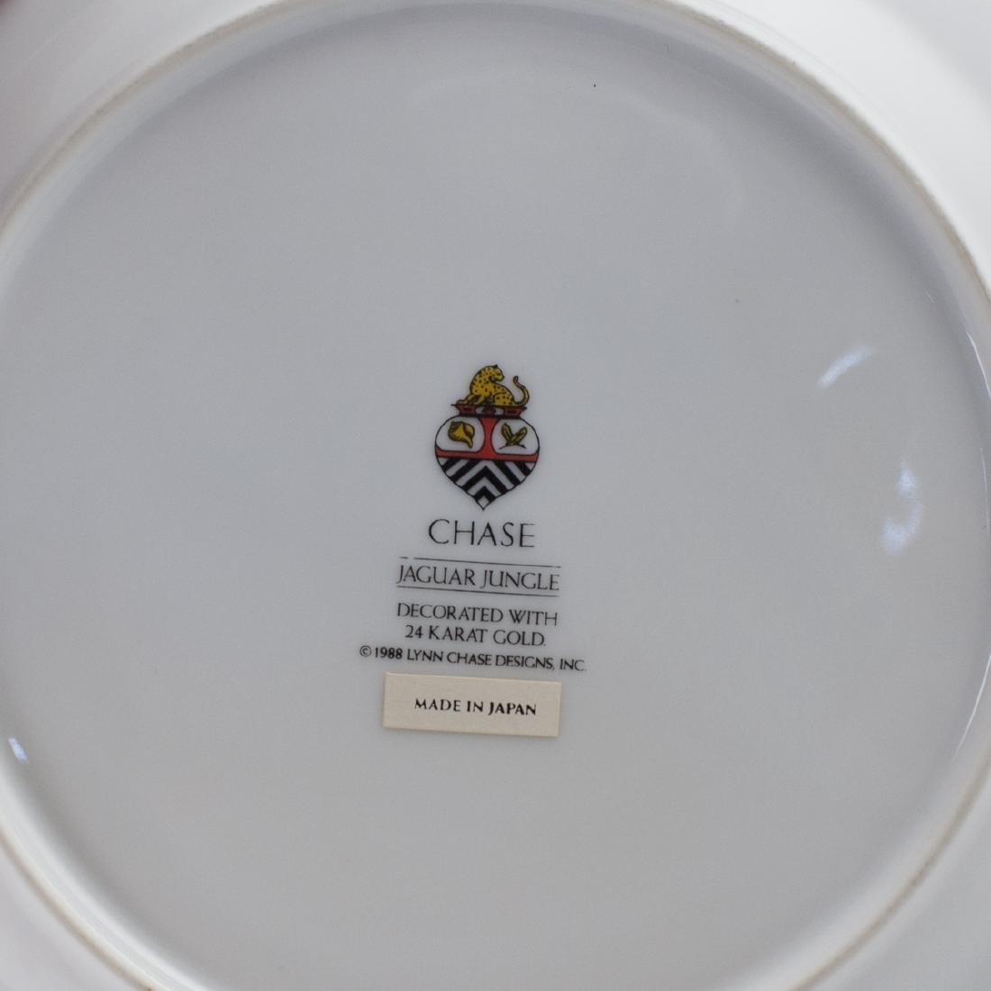 """Chase """"Jaguar Jungle"""" Porcelain Salad Plate - 3"""