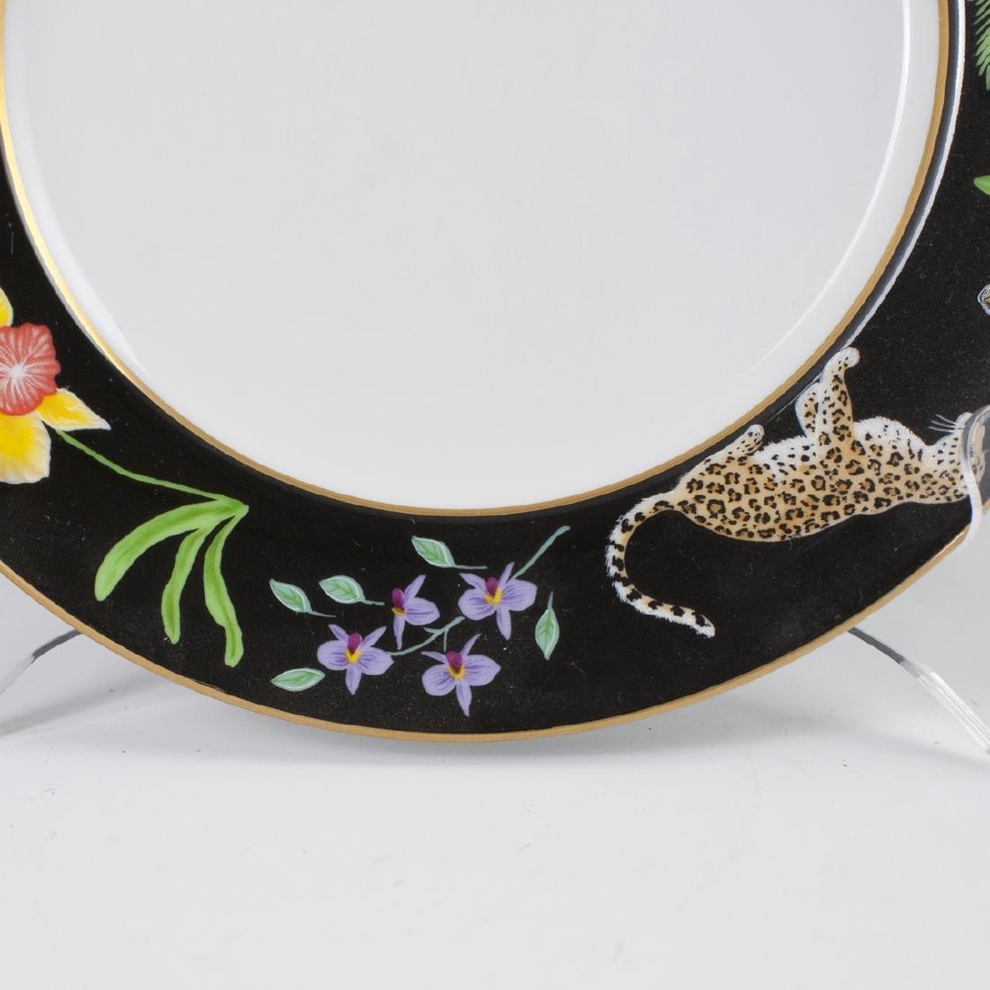 """Chase """"Jaguar Jungle"""" Porcelain Salad Plate - 4"""