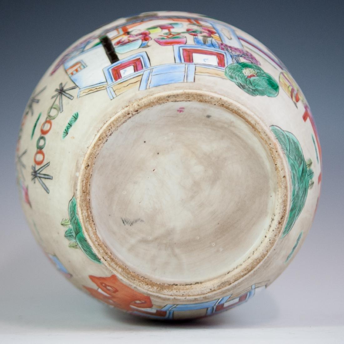 Antique Chinese Porcelain Famille Rose Jar - 3