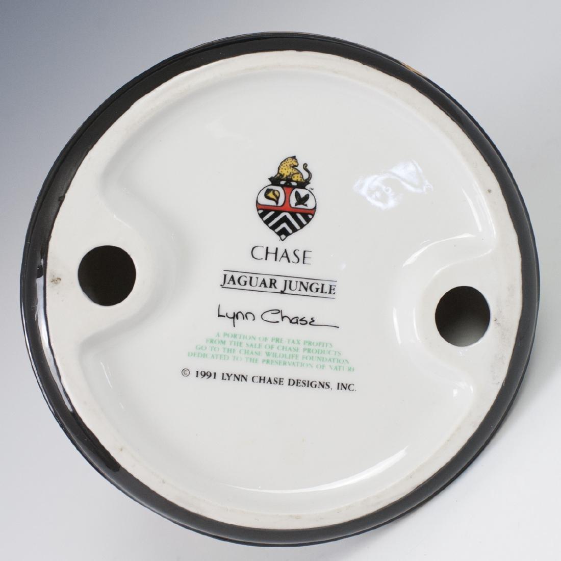 """Chase """"Jaguar Jungle"""" Porcelain Candlestick - 3"""
