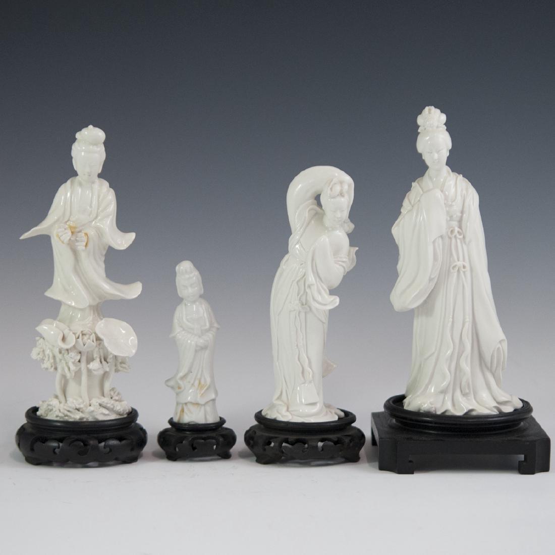 Chinese Blanc De Chine Guanyin Figurines