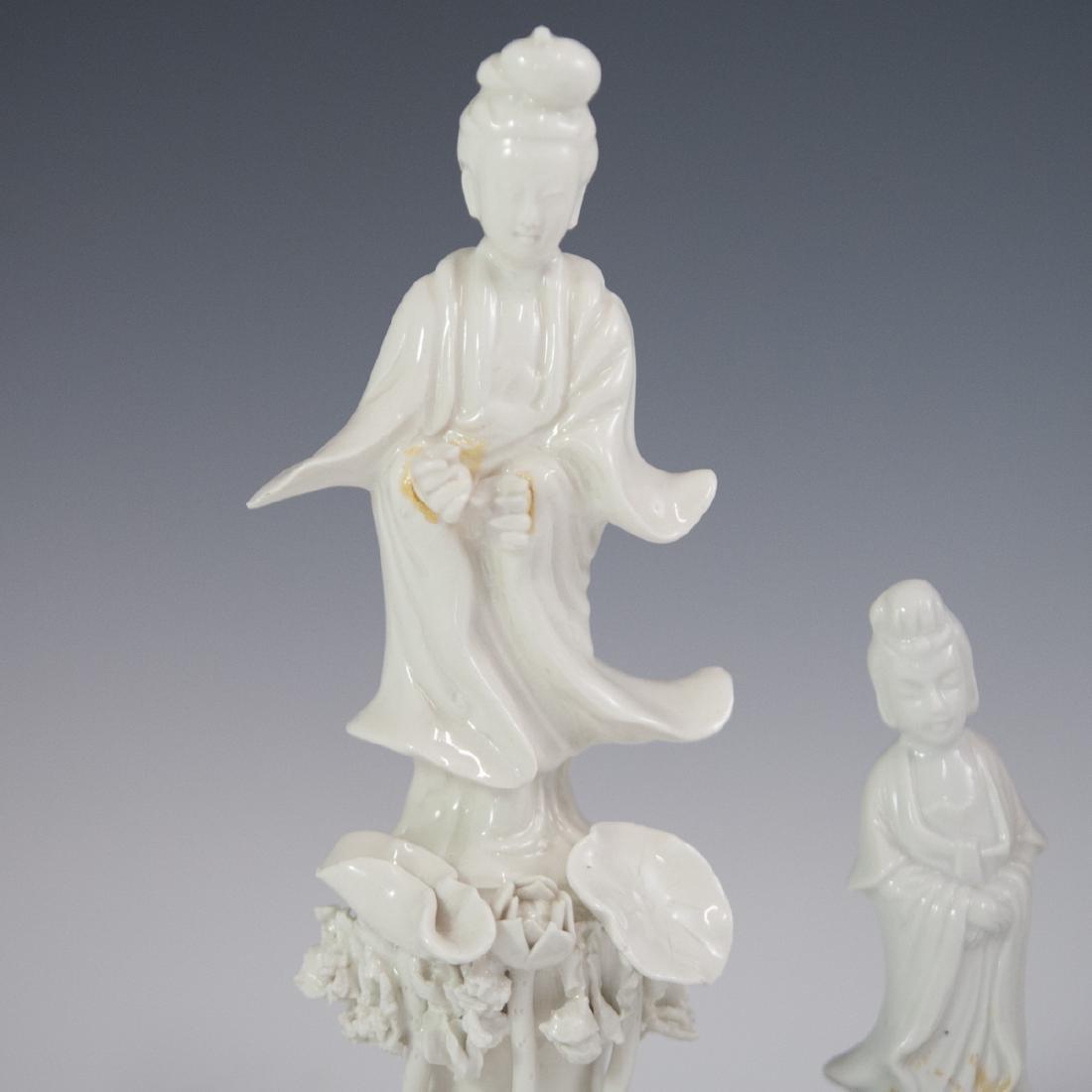 Chinese Blanc De Chine Guanyin Figurines - 2